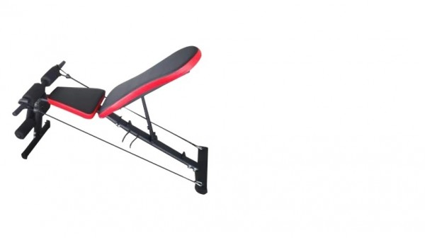 FITNESS FACTORY SIT UP BENCH WITH RESISTANCE BAND