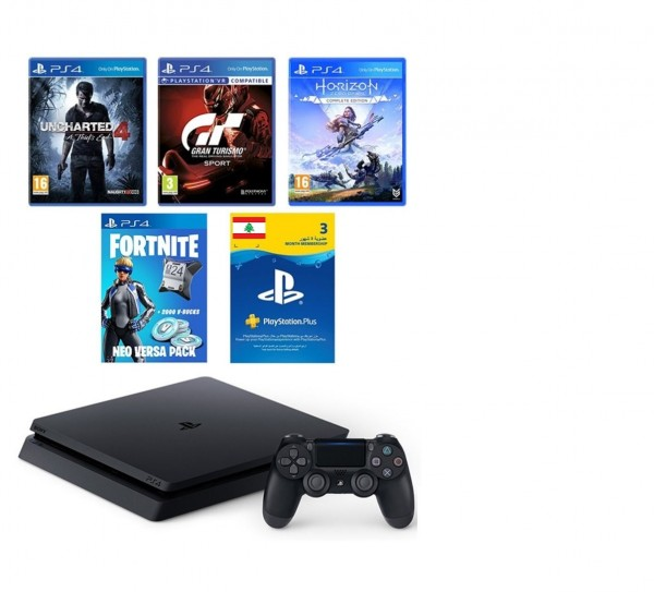 SONY PS4 500GB+3 GAMES+ 90 DAYS PSN+VBOX 10$