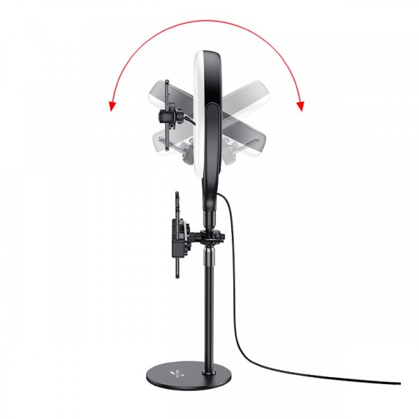 HOCO LV01 ROUGE DESKTOP FILL LIGHT LIVE BROADCAST STAND