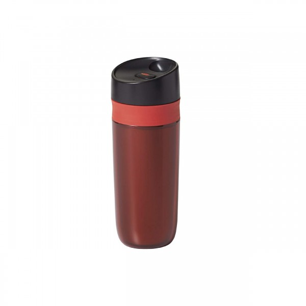 DOUBLE WALL TRAVEL MUG - 15OZ - RED