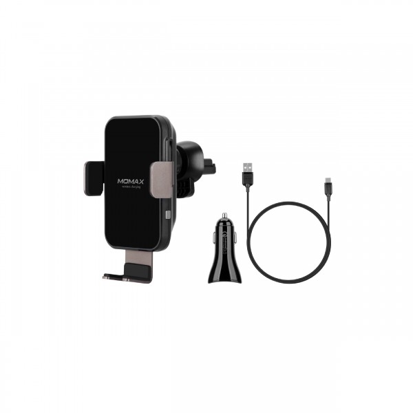 MOMAX WIRLESS MOUNT CAR CHARGER