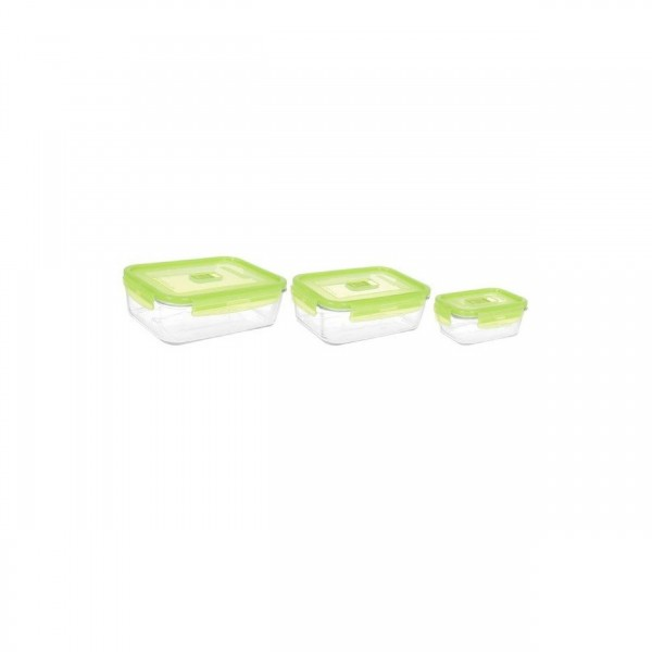 PURE BOX RECT GREEN 3PC SET-ACTV[N0334]