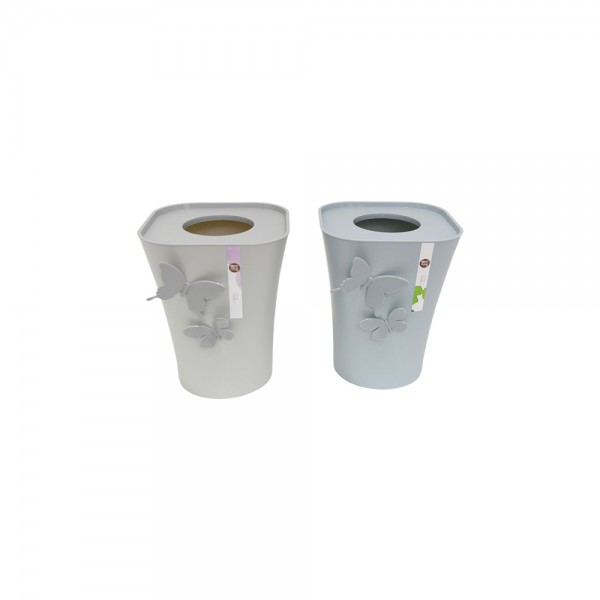 PLASTIC DUSTBIN WITH BUTTERFLY