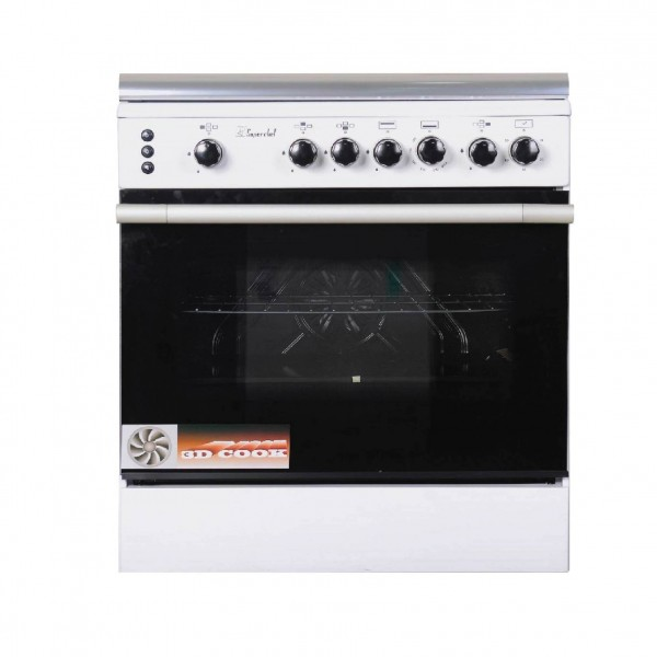 SUPER CHEF COOKER WIDE 70CM 4 GAS WHITE