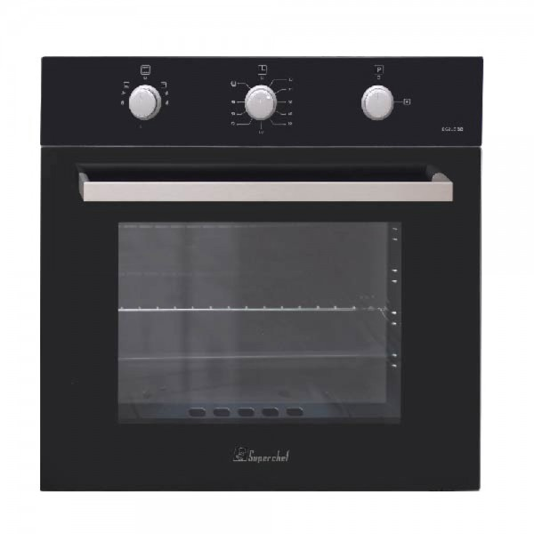 SUPER CHEF OVEN 60CM GAS GAS BLACK