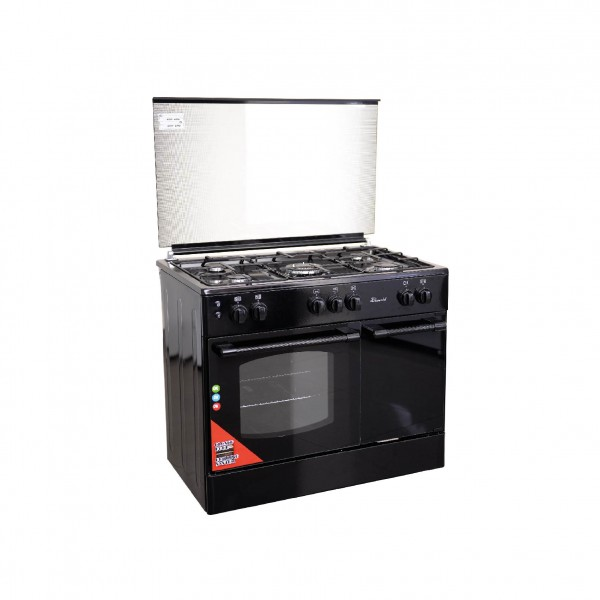 SUPER CHEF COOKER BOTTLE 90CM 5 GAS BURNERS BLACK