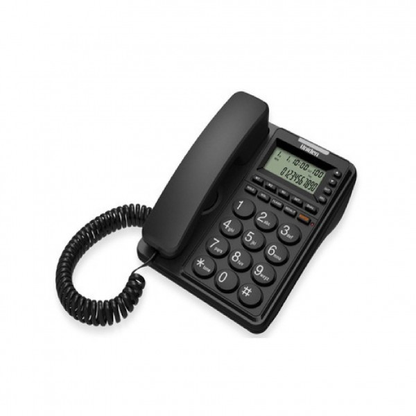 UNIDEN CORDED PHONE BLACK 6408