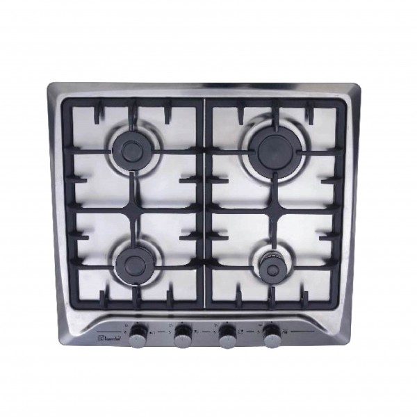 SUPER CHEF HOB 60CM 4 GAS STAINLESS CAST IRON