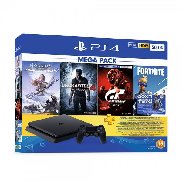 SONY PS4 500GB+3 GAMES+2 JOYSTICKS+ 90 DAYS PSN+VBOX 10$ FOR
