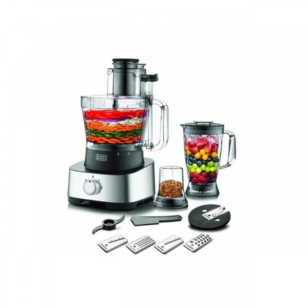 BLACK & DECKER FOOD PROCESSOR 1000 W 2.3 L WITH JUICER