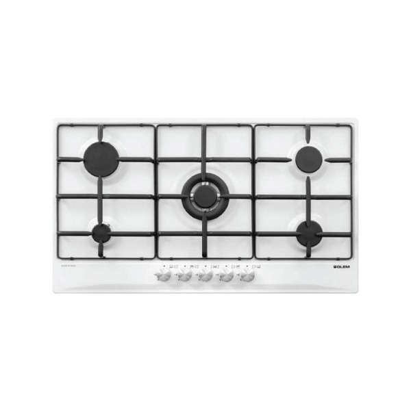 G.GAS HOB 90CM 4GAS+1DB IGNITION WHITE