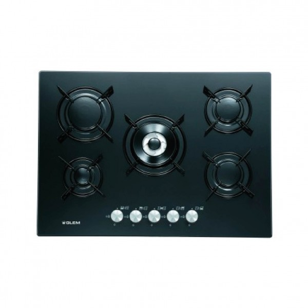 G.GAS HOB 70CM 5GAS GLASS BLACK