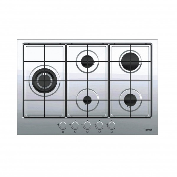 GORENJE HOB 75CM 4 GAS+1 TB STAINLESS WITH SAFETY