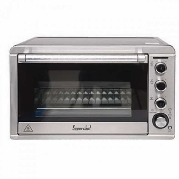 Super Chef Electric Oven 45l 2000w Black Ovens Cooking Small Kitchen Appliances Abed Tahan