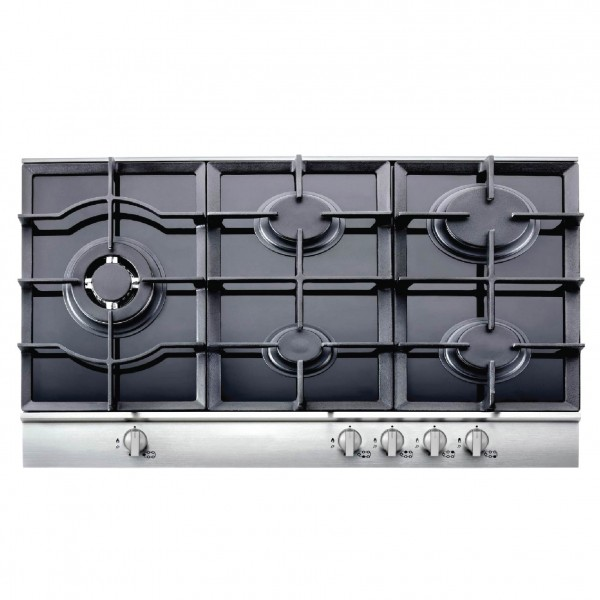 FRANCE HOB 90CM, GLASS WITH FRONT STAINLESS
