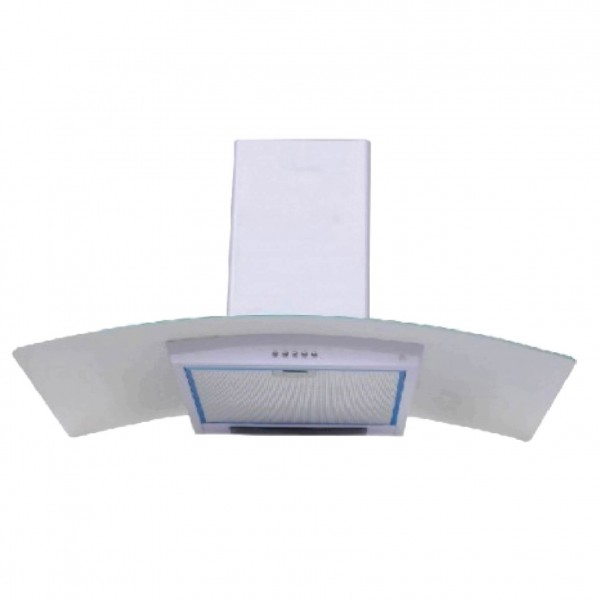 SUPER CHEF WALL MOUNTED HOOD 90CM OVAL GLASS WHITE