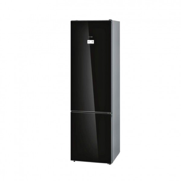GLASS DOOR BOTTOM FREEZER BLACK