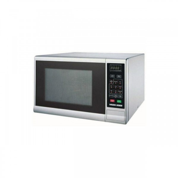 Black & Decker Microwave 30L 1000W,With Grill,Silver