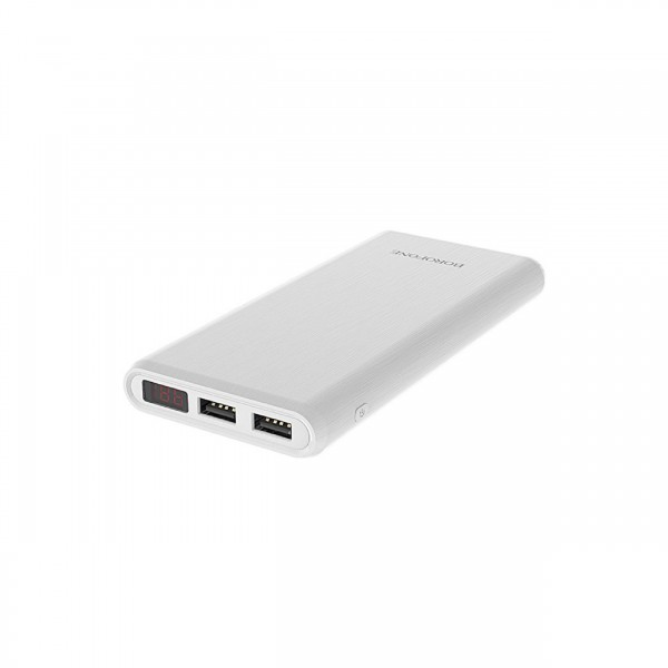 BOROFONE POWER BANK LED DISPLAY 12000MAH WHITE
