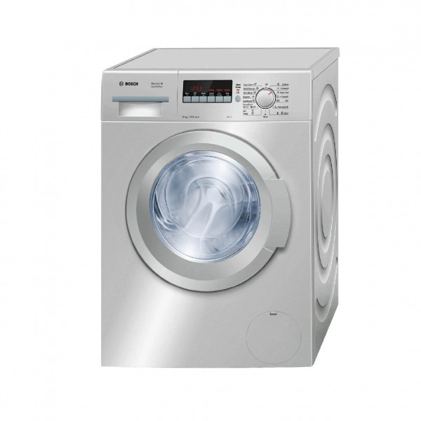 BOSCH WASHER FRONT LOAD 8KG 1200 RPM SILVER