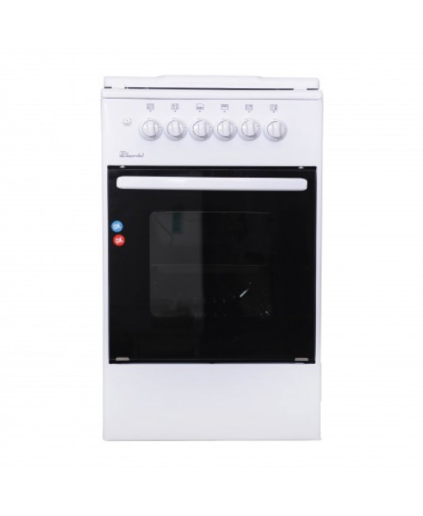 SUPER CHEF COOKER WIDE 50CM 4 GAS BURNERS WHITE