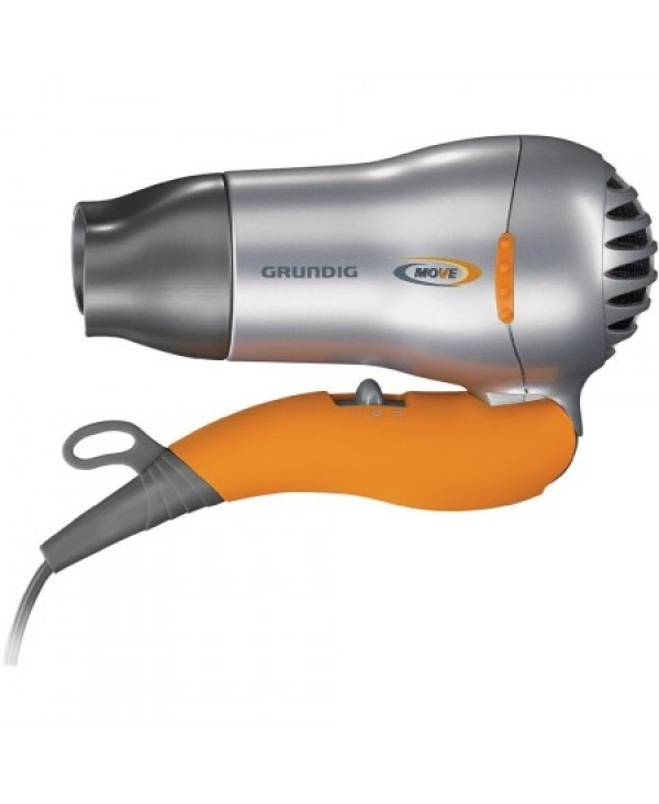 GRUNDIG-HAIR DRYER-ORANGE+SILVER COLOR-1500WATTS-FOLDABLE