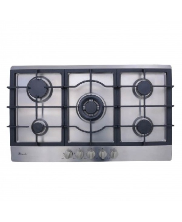 SUPER CHEF HOB 90CM 4G + 1 DOUBLE BURNER STAINLESS