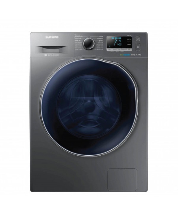 SAMSUNG WASHER + DRYER 8KG/6KG DRY SILVER