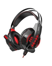 HOCO W102 Cool Tour Gaming Headphones - Red