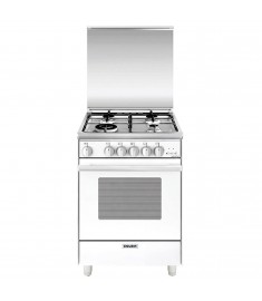 G.GAS COOKER 53CM 4 GAS WHITE