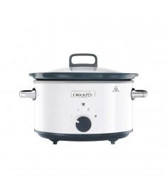 CROCK POT SLOW COOKER  3.5L  WHITE/GRAY