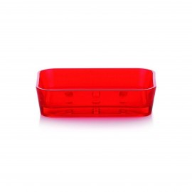 SOAP DISH KRISTALL RED