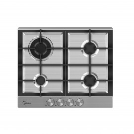 MIDEA HOB 60CM 4 GAS BURNERS CAST IRON SAFETY IGNITION INOX