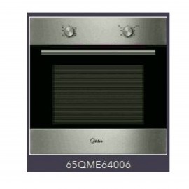 MIDEA Oven Gas 60cm 65L Safety Stainless Steel & Black Glass