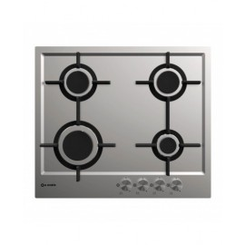 SMALVIC HOB 60CM 4 GAS SAFETY CAST IRON INOX