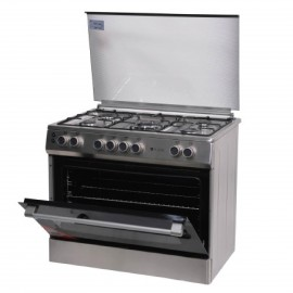 FLORA COOKER WIDE 90CM 5 GAS BURNERS INOX