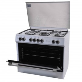 FLORA COOKER WIDE 90CM 5 GAS BURNERS WHITE