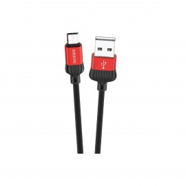 BOROFONE DIGNITY CHARGING DATA CABLE FOR TYPE-C RED
