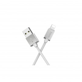 HOCO U49 METAL DATA CABLE LIGHTNING WHITE