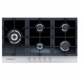 CAMPOMATIC Hob 90cm 5 Gas Burners Cast Iron Safety Stainless
