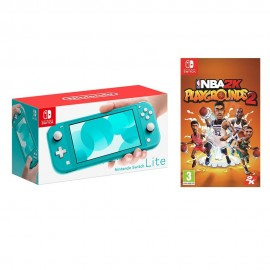 NINTENDO SWITCH LITE BLUE + NBA 2K PLAYGROUNDS 2