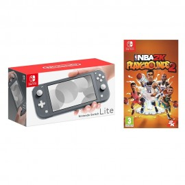 NINTENDO SWITCH LITE GREY +NBA 2K PLAY GROUNDS 2