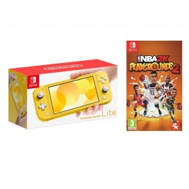 NINTENDO SWITCH LITE YELLOW +NBA 2K PLAY GROUNDS 2