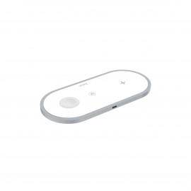 HOCO HANDSOME 3-IN-1 WIRELESS FAST CHARGER WHITE