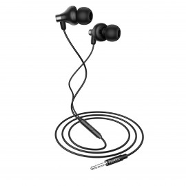 HOCO CLASSIC WIRED EARPHONES WITH MIC BLACK