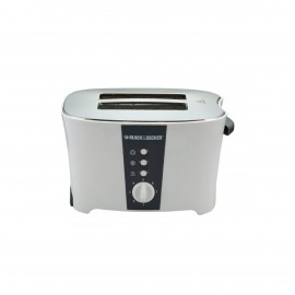 BLACK & DECKER TOASTER 800 W 2 SLICES WHITE