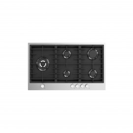 FLORA HOB 90CM 5 GAS BURNERS SAFETY CAST IRON STAINLESS