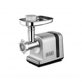 BLACK & DECKER MEAT MINCER 3000 W DIE CAST SILVER