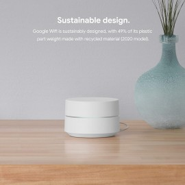 GOOGLE Wifi - AC1200 Router - 1500 Sq Ft Coverage - 1 Pack