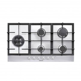 G.GAS HOB 90CM 4 GAS+1DB IGN FONT CAST IRON(HIX) SAFETY STS